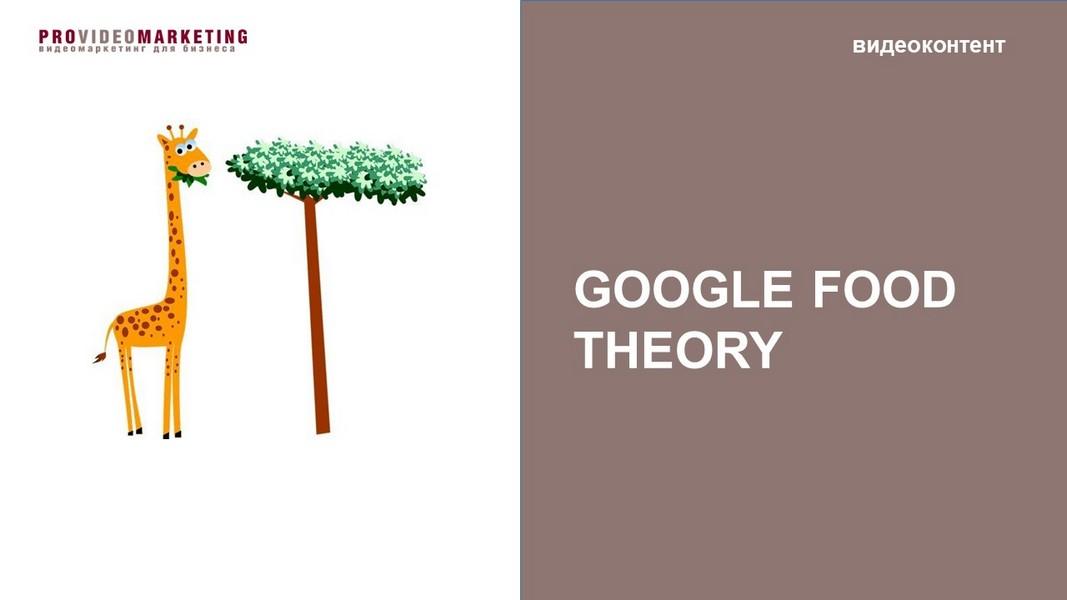 Google food theory