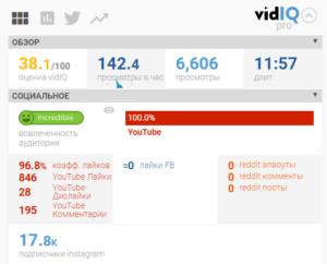 обзор vidIQ